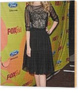 Dianna Agron At Arrivals For Fox Fall Wood Print by Everett