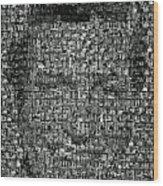 Dick Van Dyke Mosaic Wood Print