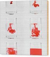 Dissolving Dye Wood Print