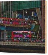 Docklands London Wood Print