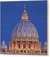 Dome San Pietro Wood Print