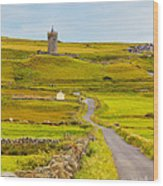 Doonagore Castle Wood Print