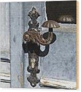 Doorknob Wood Print