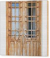 Doors In Greece Wood Print