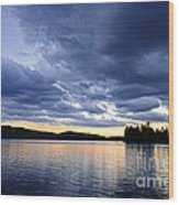 Dramatic Sunset At Lake Wood Print