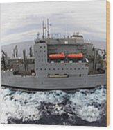 Dry Cargo And Ammunition Ship Usns Wood Print