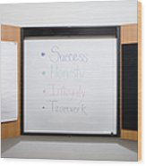 Dry Erase Board Wood Print