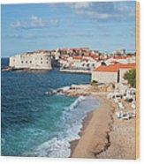 Dubrovnik Scenery Wood Print