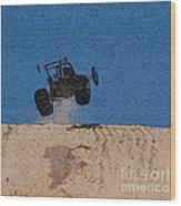Dune Buggy Jump Wood Print