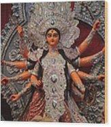 Durga Goddess 2012 Wood Print by Rajan Advani