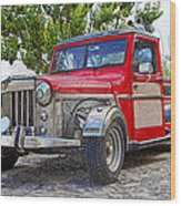 Dusty Pick-up Hot Rod Wood Print by Kantilal Patel