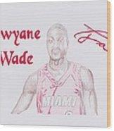 Dwyane Wade Wood Print