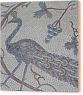 Early Christian Mosaic In The Ruins Wood Print by Taylor S. Kennedy