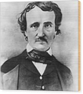 Edgar Allan Poe Wood Print