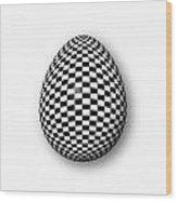 Egg Checkered Wood Print
