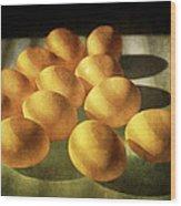 Eggs Lit Through Venetian Blinds Wood Print