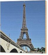 Eiffel Tower In Paris Wood Print