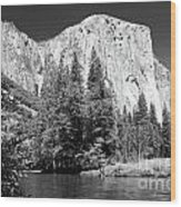 El Capitan And Merced River Wood Print