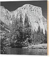 El Capitan And Merced River Wood Print