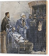 Electrocution, 1890 Wood Print