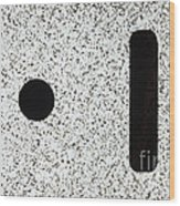 Electrostatic Field Lines No Charge Wood Print