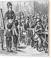 Elementary School, 1873 Wood Print