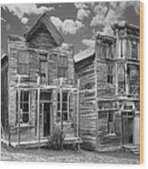 Elkhorn Ghost Town Public Halls - Montana Wood Print