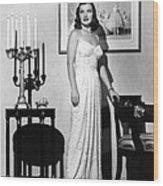 Ella Raines, 1946 Wood Print