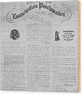 Emancipation Proclamation Wood Print