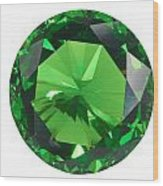 Emerald Isolated Wood Print