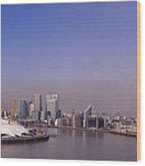 Emirates Cable Car Skyline Wood Print