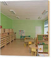 Empty Estonian Elementary Grade School Wood Print by Jaak Nilson