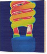 Energy Efficient Fluorescent Light Wood Print