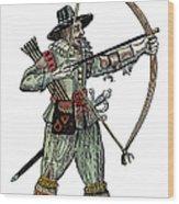 English Archer, 1634 Wood Print