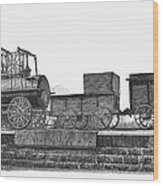English Locomotive, 1825 Wood Print