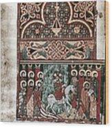 Entry Into Jerusalem Wood Print
