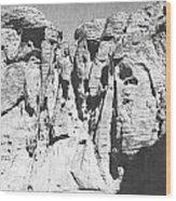 Eroded Sandstone Cliffs Wood Print