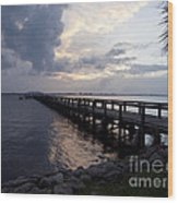Evening On The Indian River Lagoon Wood Print