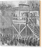 Execution Of Henry Wirz Wood Print