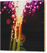 Explosion Of Lights Wood Print