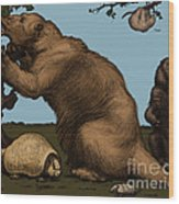 Extinct Fauna Wood Print