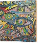 Eyes In Disguise Wood Print