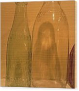 Face In The Bottle Wood Print