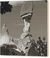 Fairy Chimney In Goreme Wood Print