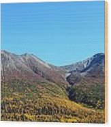 Fall Mountains Wood Print