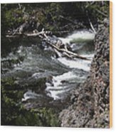 Fast Moving Firehole River Wood Print