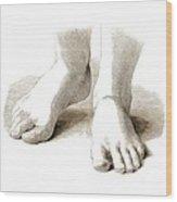 Feet, Artwork Wood Print