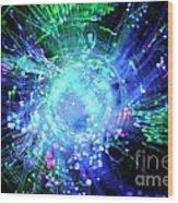 Fiber Optic Swirl Wood Print