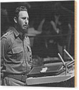 Fidel Castro (1926-) Wood Print