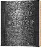 Fire Extinguisher Wood Print